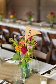 warm colored table arrangement