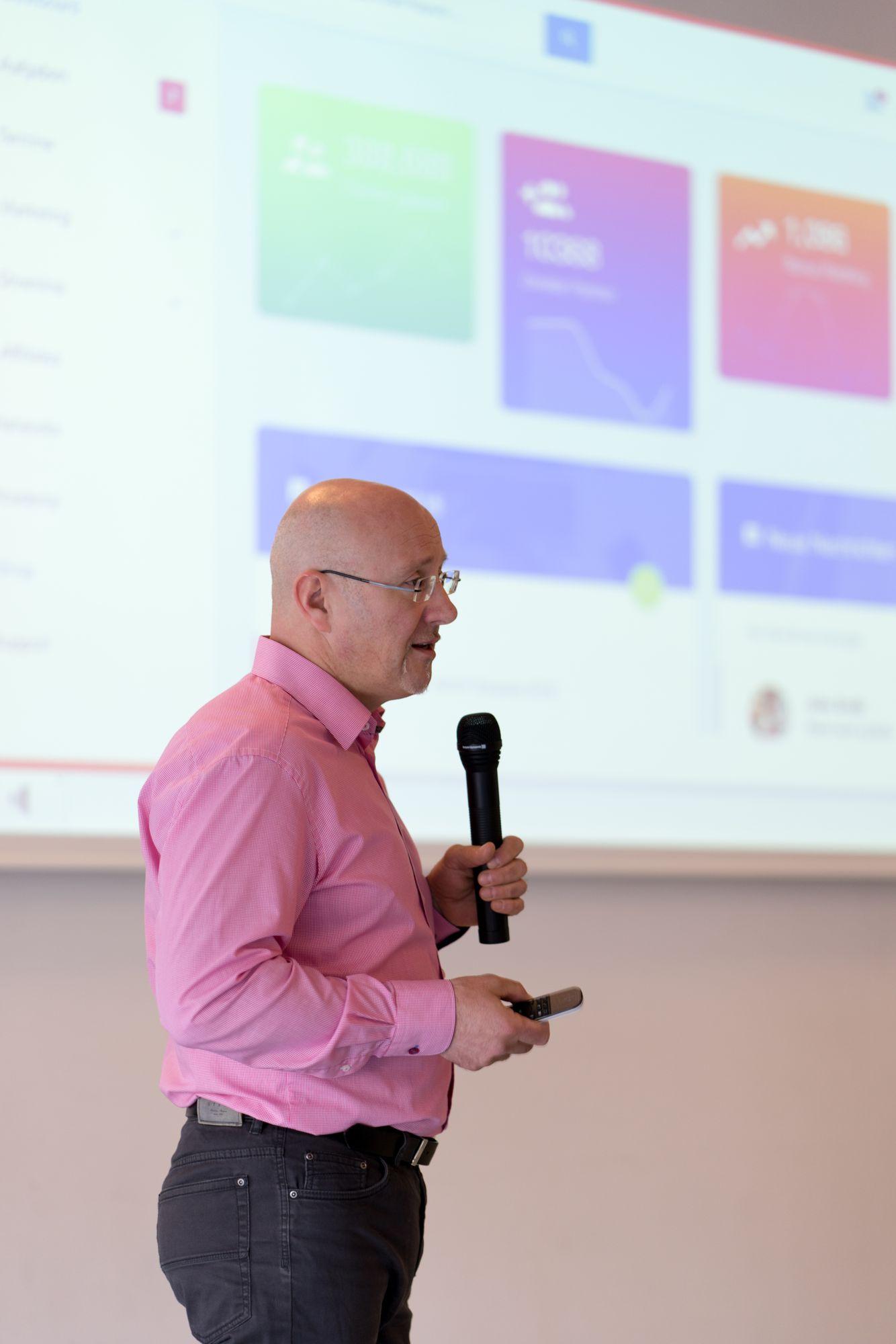Torsten Semmler als Sprecher auf dem Babba Business Day 2019 in Großostheim