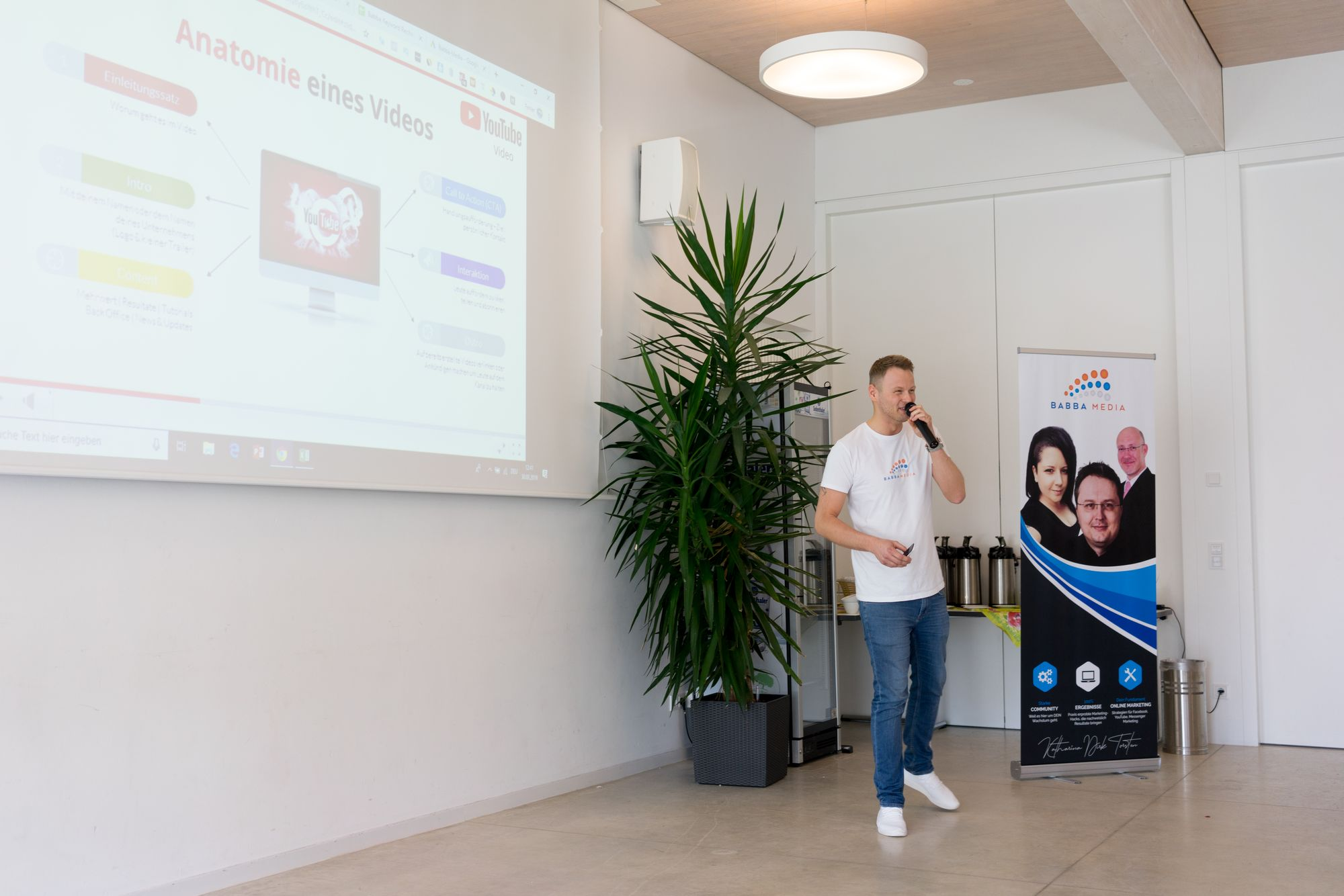 Stefan Beier als Sprecher auf dem Babba Business Day 2019 in Großostheim