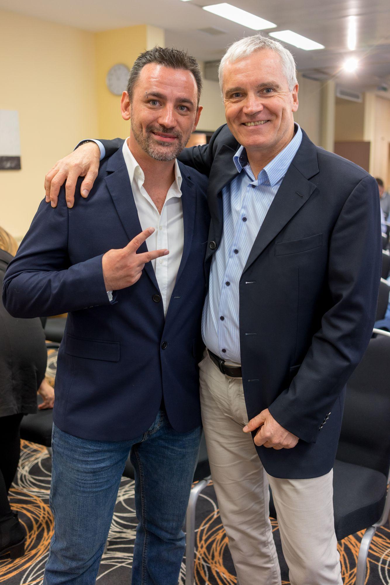 Marco Vantroba und Svend Krumnacker auf dem Builderall Everest 2018 in Nürnberg (Germany)
