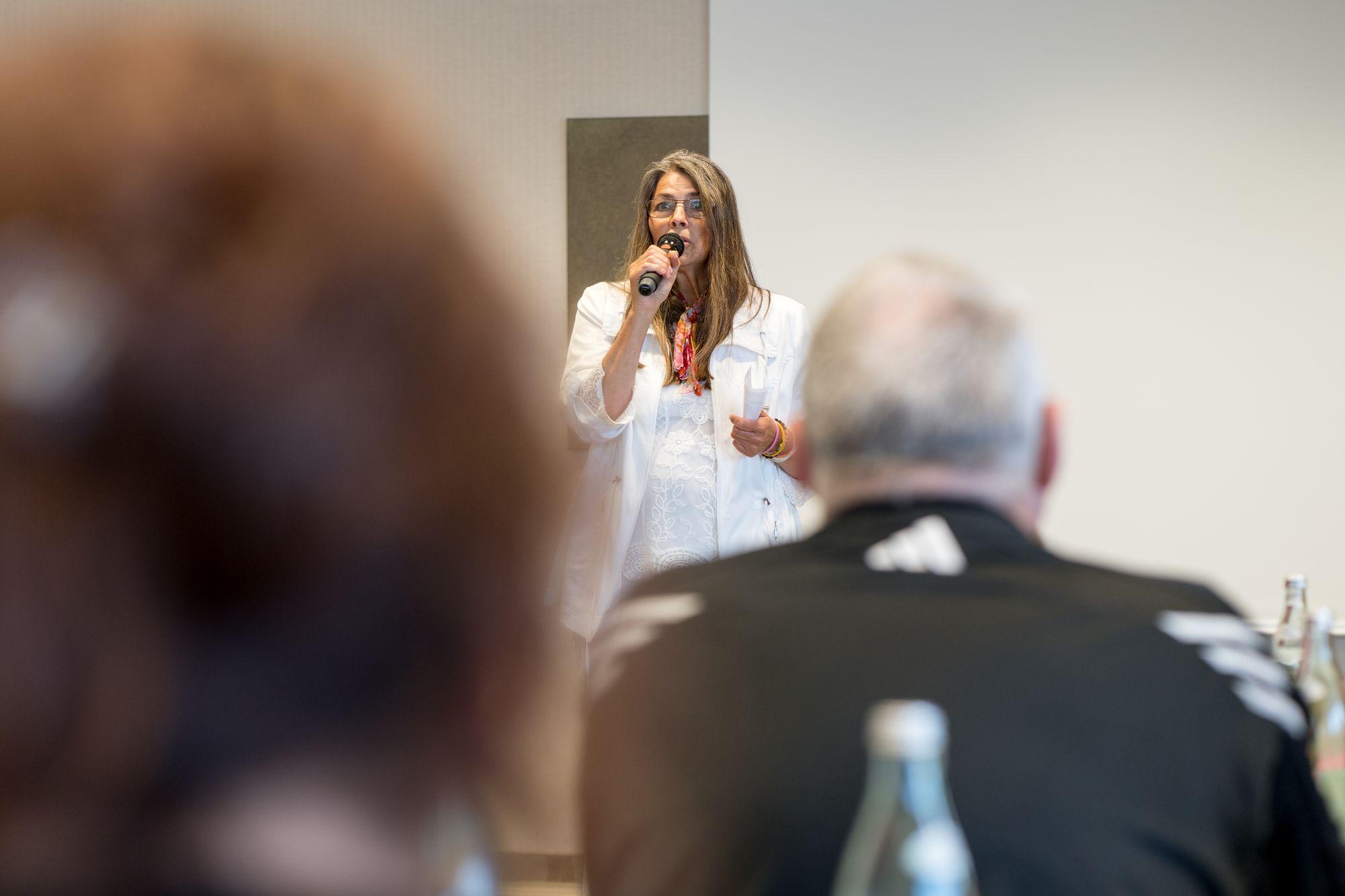 Astrid Neitzke als Sprecher auf dem Builderall Everest 2019 in Nürnberg (Germany)