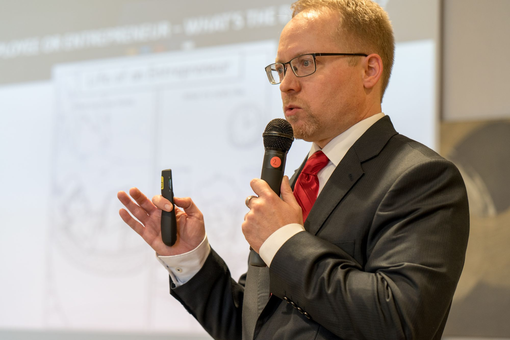Thomas Loczewski (Tom Loc) als Sprecher auf dem Builderall Everest 2019 in Nürnberg (Germany)