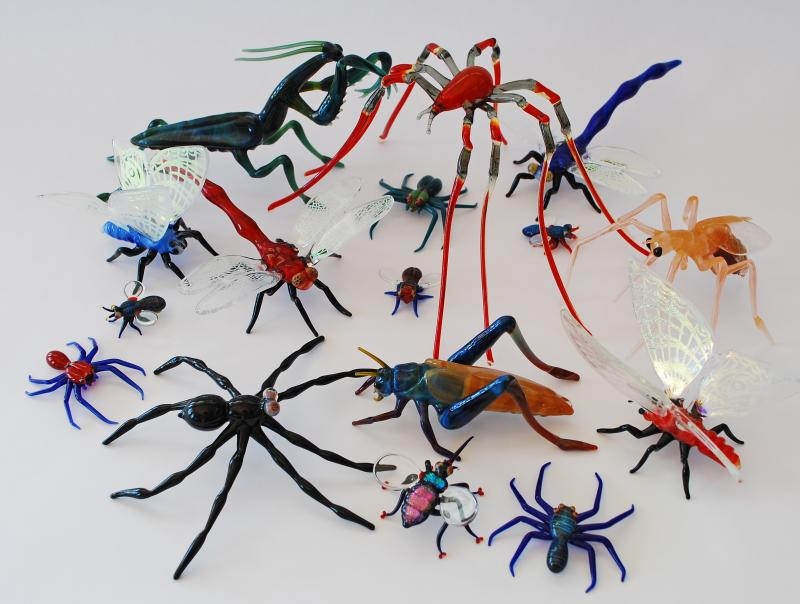 Silver Quill Antiques And Gifts Glass Insects