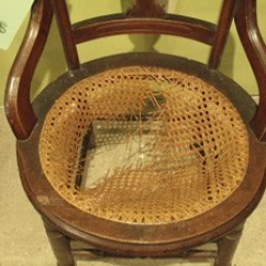 How To Cane A Chair Bed Convertible Silver River Center For Caning Restorations Laced Round Seat Before