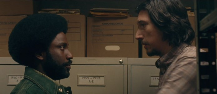 Adam Driver and John David Washington in BlacKkKlansman (Focus Features)