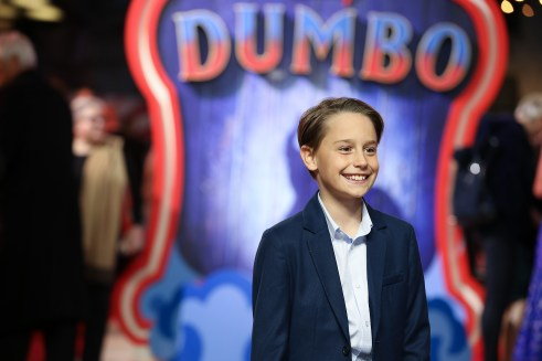 "Finley Hobbins attends the European Premiere of Disney's ""Dumbo"" on February 27, 2019 in London, UK"