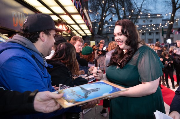 Sharon Rooney attends the European Premiere of Disney's ÒDumboÓ on February 27, 2019 in London, UK