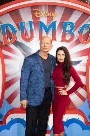 Joseph Gatt and Guest attend the European Premiere of Disney's ÒDumboÓ on February 27, 2019 in London, UK