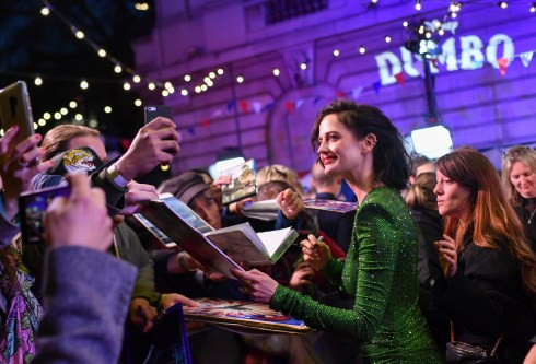 """LONDON, ENGLAND - MARCH 21: Eva Green attends the European Premiere of Disney's """"Dumbo"""" at The Curzon Mayfair on March 21, 2019 in London, England. (Photo by Gareth Cattermole/Getty Images for Disney)"""