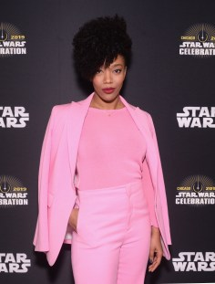 """CHICAGO, IL - APRIL 12: Naomi Ackie (Jannah) attends """"The Rise of Skywalker"""" panel at the Star Wars Celebration at McCormick Place Convention Center on April 12, 2019 in Chicago, Illinois. (Photo by Daniel Boczarski/Getty Images for Disney ) *** Local Caption *** Naomi Ackie"""