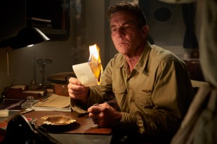 """Dennis Quaid stars as 'Admiral William """"Bull"""" Halsey' in MIDWAY."""