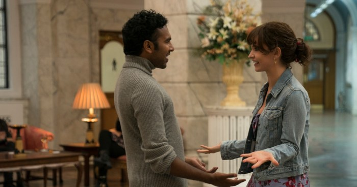Himesh Patel and Lily James in Yesterday, courtesy Universal Pictures.