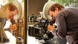 Quentin Tarantino directing a scene from ONCE UPON A TIME IN HOLLYWOOD.