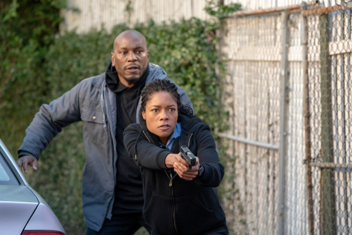 Tyrese Gibson and Naomie Harris star in BLACK and  BLUE.