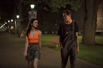 (from left) Claire Carlin (Maude Apatow) and Scott Carlin (Pete Davidson) in The King of Staten Island, directed by Judd Apatow.