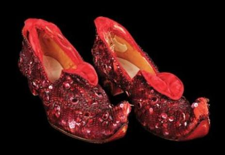 "The ""Arabian test pair"" of Ruby Slippers"