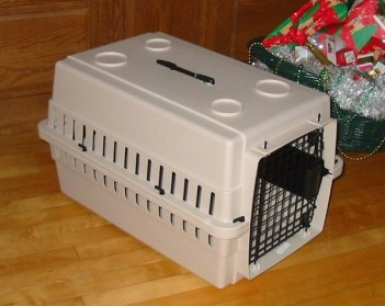 Image of cat supplies hard sided crate
