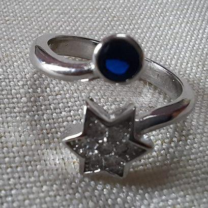 star cz silver ring