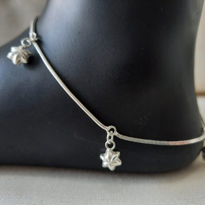 charms silver anklet