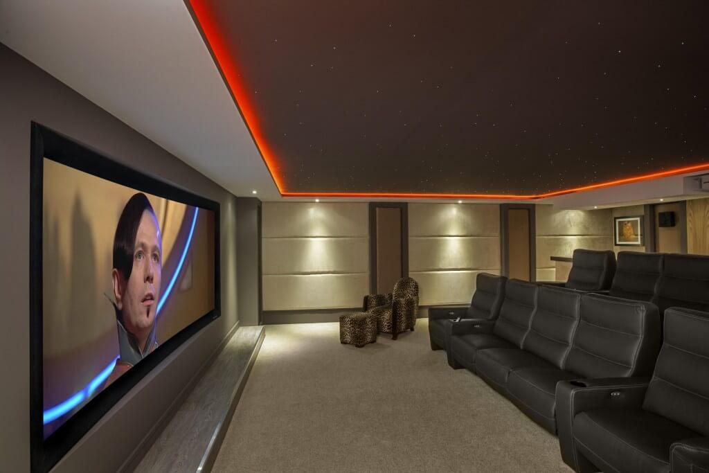 smart home cinema orange rope light starlight