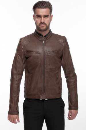 Men's Men's Modern Cool and Stylish Black Leather Jacket