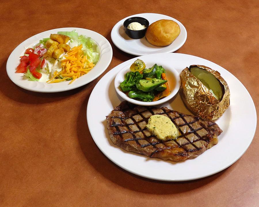 Rib Eye Steak dinner