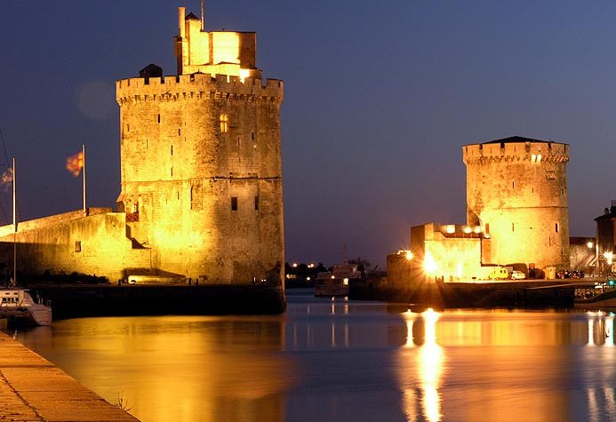 La Rochelle Harbour Tower At Night