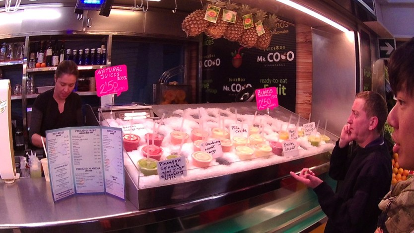 Juice store in Atarazanas market in Malaga