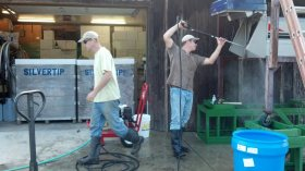 Winemaking = Cleaning
