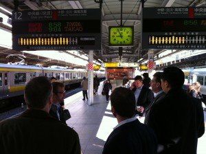 On the metro in Tokyo (c) 2011 Silverton Consulting, All Rights Reserved