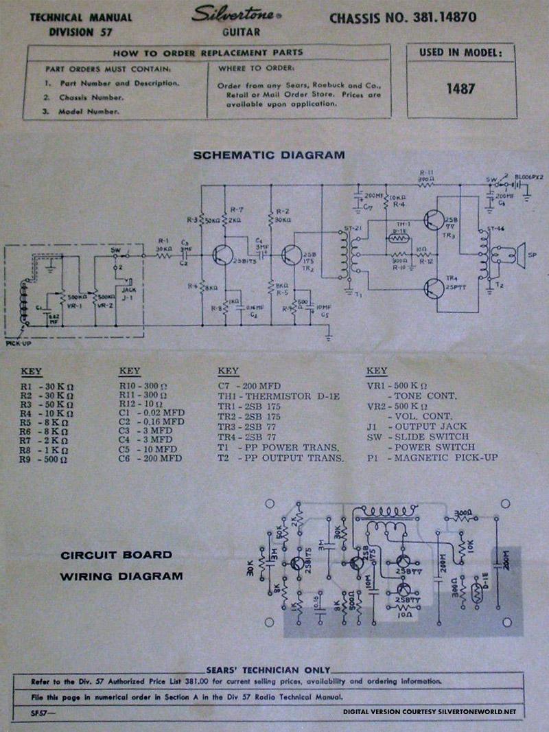 silver tone wiring diagram schematic