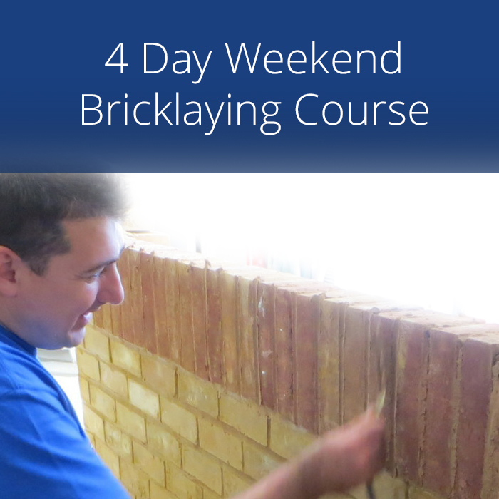 4 Day Weekend Bricklaying Course Over Two Weekends