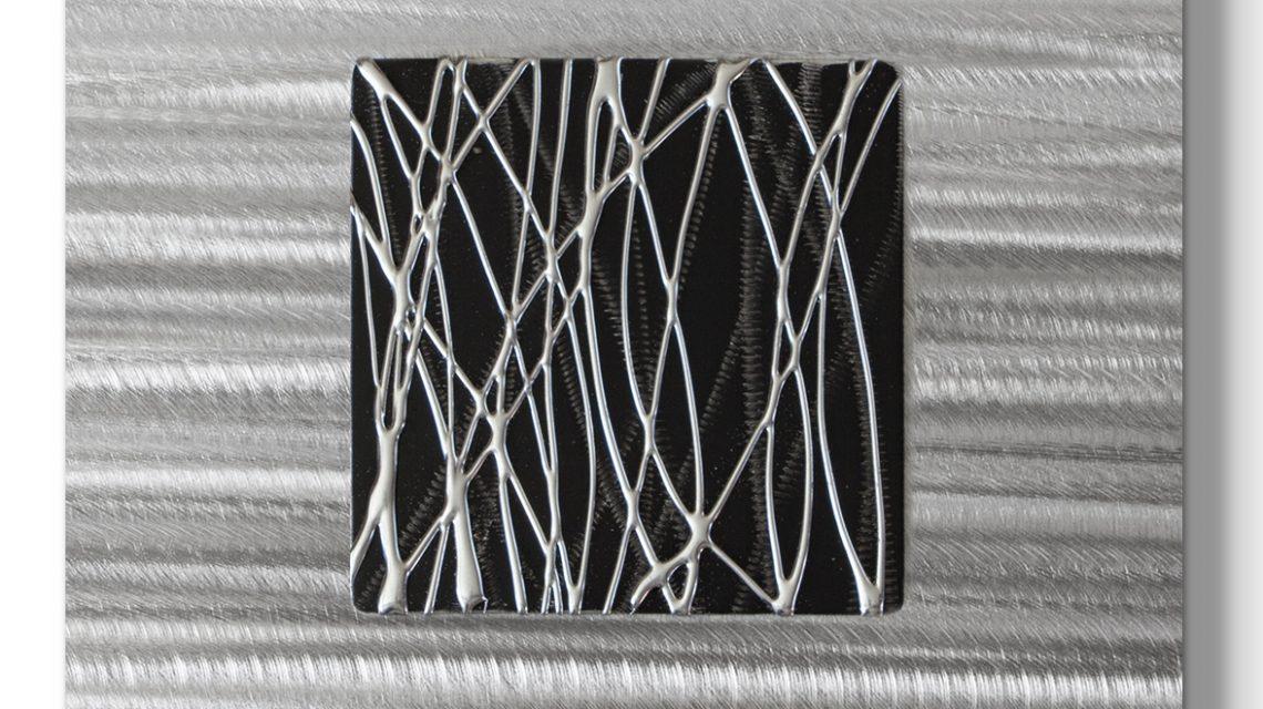 Black Silver Wall Art Metal