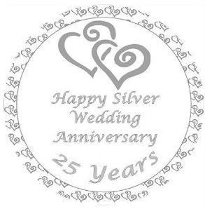 25th anniversary clipart wedding