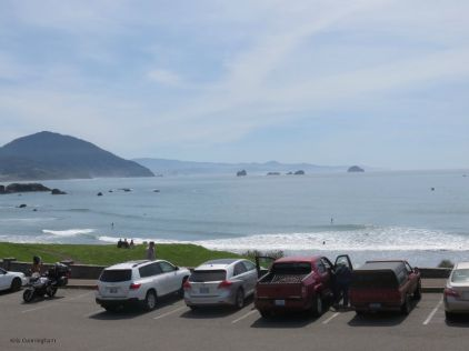This spot was in Port Orford, and seemed the place to go for paddle boarding