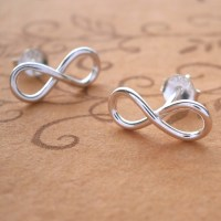 Sterling Silver Infinity Stud Earrings | Silver Willow ...