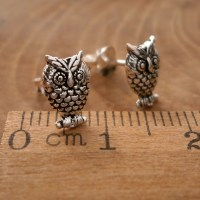 Sterling Silver Owl Stud Earrings | Silver Willow Jewellery