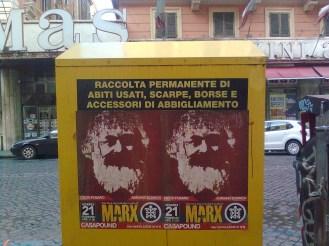 roma, piazza vittorio, mas marx e abiti usati