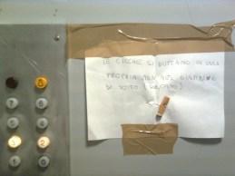roma, ascensore di condominio