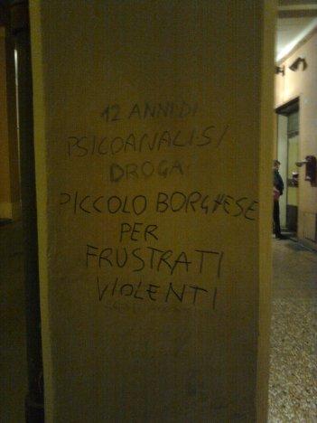 bologna, psicoanalisi piccolo borghese per frustrati violenti