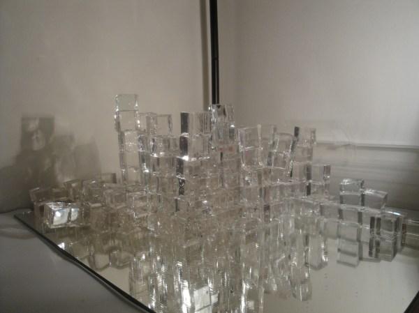 Lightning Sand Glass Sculpture