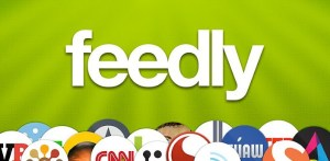 Logo feedly content curation