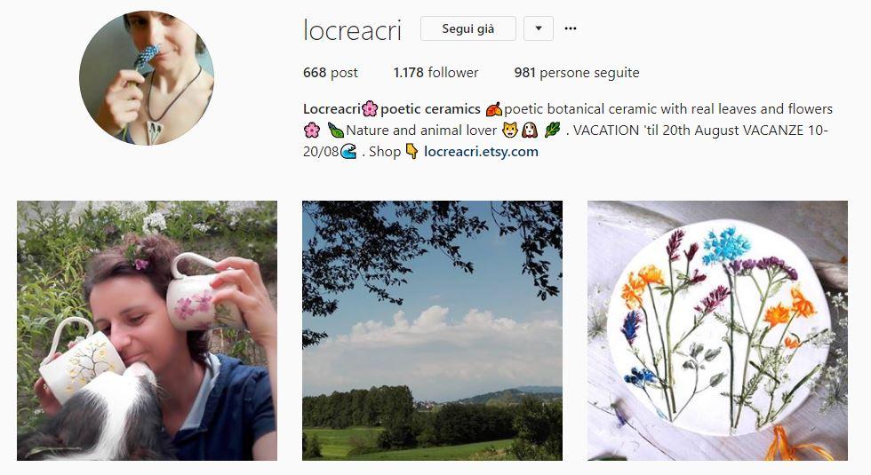 profilo Instagram @locreacri