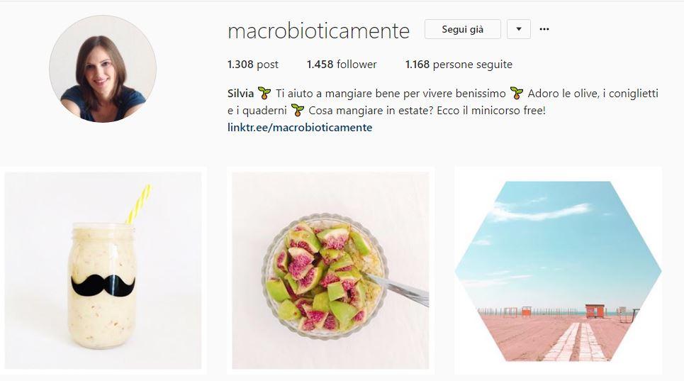 Profilo instagram @macrobioticamente