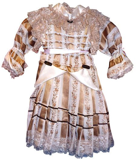 vestido muñeca antigua