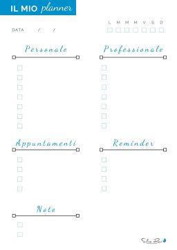 Il mio planner - come conciliare lavoro e famiglia in casa