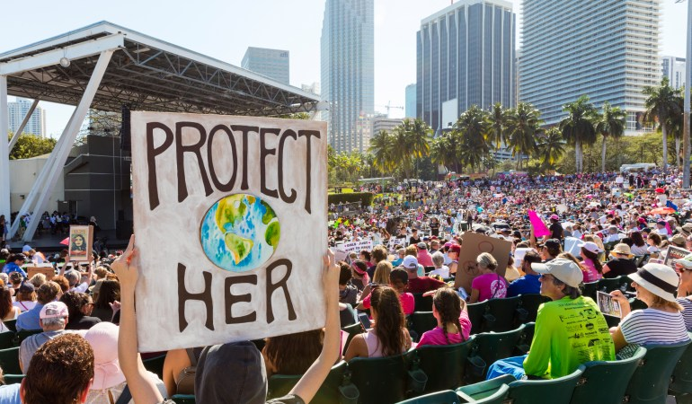 Women's March Rally in Miami