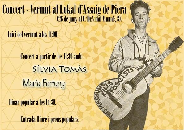 concert vermut lokal Piera juny