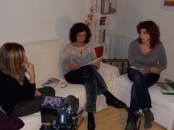 """Durante la entrevista a Grela Bravo, """"Sobrevivir al dolor"""""""