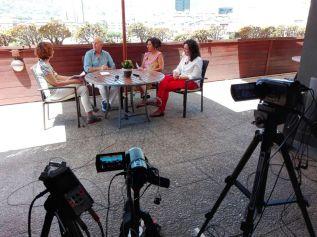 Emilio Carillo – Momentos previos a la entrevista sobre su libro El transito